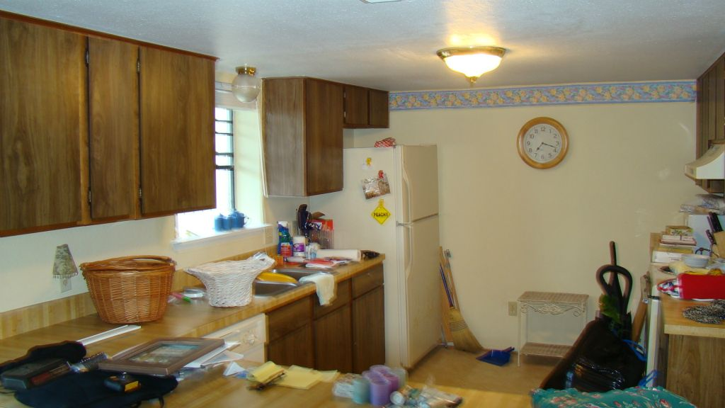 Existing dated Kitchen