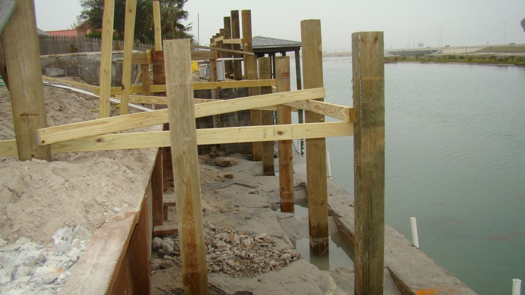 PILINGS SET IN PLACE